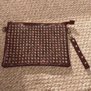 Oversized Clutch W/ Gold Studs